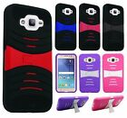For Samsung Galaxy J7 HYBRID Hard Gel Rubber KICKSTAND Case Phone Cover