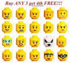 LEGO GIRL HEAD you pick female women MINIFIG minifigure mini figure face smile