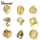 Viennois fashion gold ring size 7# charm women lady jewelly cocktail ring gift