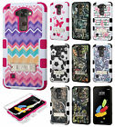 For LG Stylo 2 Rubber IMPACT TUFF Hybrid KICKSTAND Case Phone Cover Accessory