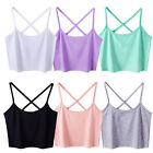 WOMEN VINTAGE TANK TOP CAMI SLEEVELESS T-SHIRT SUMMER VEST CROP TOP BLOUSE