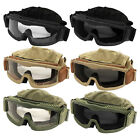 Lancer Tactical Airsoft Safety Eye Protection Full Seal Foam Pad Vented Goggles