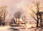 The Old Grist Mill by George H. Durrie, 1862 (Classic American Master Art Print)