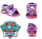 PAW PATROL EVEREST SKYE Light-Up Velcro Sandals Shoes Sz 6 7 8 9 10 11 or 12 $35