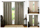Luxury Monaco Damask Silk Curtain Pair, Fully Lined Pencil Pleat Curtains