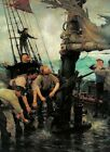 All Hands to the Pumps, Henry Scott Tuke, 1889 (English Woodland Art Print)