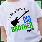 GUITAR I'M GOING TO BE A BIG BROTHER AGAIN SHIRT PERSONALIZED MUSICIAN