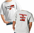 2 SIDED BIG BROTHER FIRETRUCK SHIRT CUSTOMIZED TSHIRT FIREMAN RESCUE FUTURE