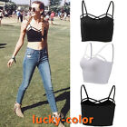 Summer Women Sexy Vest Top Strap Sleeveless Casual Tank Tops T-Shirt Black/White