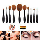 1/10pcs Beauty Toothbrush Shaped Foundation Power Makeup Oval Bendable Brushes
