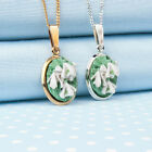 SNOWDROP PENDANT necklace  hand-painted flower jewellery made in Wales
