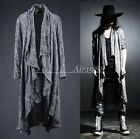 Cool New Men's Cotton Linen Long Sleeve Casual Shawl Long Coat Capes Outwear