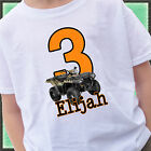 CAMO ATV QUAD BIG NUMBER 2 SIDED BIRTHDAY SHIRT PERSONALIZED NAME AGE