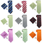 Landisun US Location Striped Solid Floral Plaids Men Silk Tie Set: Tie+Hanky+Cuf