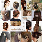 Hair Accessories Fashion Women Gold Silver Plated alloy Hairpin Hair Clip gifts
