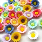 30/150pcs Flowers Resin Flatback Flat Backs Card Craft Scrapbooking 13mm B0500