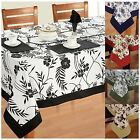Dinner Party Table Linen Set 6 Seater Kitchen Dining Tablecloth Napkins Cloth