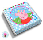 Personalised PEPPA PIG Girl, Boy's 2nd 3rd 4th Birthday Party Favour Chocolates
