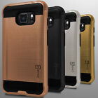 For Samsung Galaxy S7 Active Case - Slim Hard Faux Brushed Metal Armor Cover