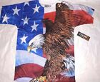 New Spirit of America Patriotic flag eagle shirt mens size S M L XL XXL