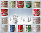 Christmas Ribbon 5 Yards (4.5metre) Roll  ~ Ideal For Presents Cakes Cards Hobby