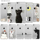 Cats Heaven Case Cover For iPhone 4S 5S SE 6 6S Plus TPUClear Katie Pattern Skin