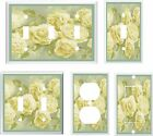 VICTORIAN OFF WHITE ROSES  LIGHT SWITCH COVER PLATE YOU PICK  SIZE