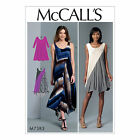 McCall's 7383 Sewing Pattern to MAKE Misses' Diagonal-Seam Knit Dresses