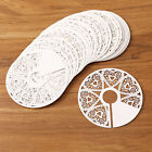 Cut-out Paper Wine Glass Coasters Place Cards Party Catering Wedding Round