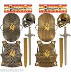 Childs Boys Medieval Knight King Arthur Lancelot Armour Costume 5pc Set age 5-8