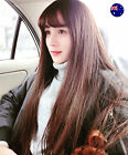 Women Girls Lady Natural Curl Fringe Cosplay Costume Party Long Full Hair Wigs