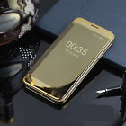 NEW Men Lady Iphone 6/ 6 Plus Gold Mirror look Flip over Case Protector Cover