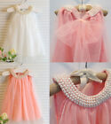New Toddler Girl Baby Children Kids Shirt Wedding Costume Birthday Top Dress