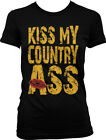Kiss My Country Ass Lips Southern Redneck Pride Funny Juniors T-shirt