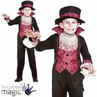 Boys Child Victorian Vampire Dracula Halloween Gothic Fancy Dress Costume Outfit