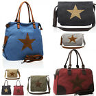 Ladies Canvas Bag Messenger/Tote/Shoulder Bags Women's Fashion Star Handbags