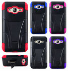 For Samsung Galaxy j3 Advanced HYBRID KICKSTAND Case Phone Cover + Screen Guard
