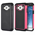 Samsung Galaxy j3 Rubber IMPACT TRI HYBRID Case Skin Phone Cover Accessory
