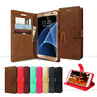 Slim Flip Stand Leather Wallet Case Cover Magnetic Hold For iPhone Galaxy LG