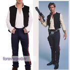 A New Hope Han Solo Outfits  Vest +Shirt +Pants Star Wars Cosplay Fancy Dress $34.99 CAD on eBay