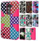 For LG Treasure LTE L52C IMPACT TUFF HYBRID Case Skin Phone Cover + Screen Guard