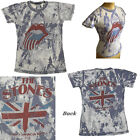 Junk Food The Rolling Stones t-shirt Burn Out Fabric Back Print Tour 81 SLIM NEW