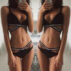 Frauen Bikini Set Push up Verband Gepolsterter Sexy Triangle Badeanzug Bademode