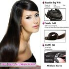 clip in real remy human hair extensions dark brown factory direct sale