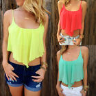 Fashion Women's Summer Chiffon Tops Sleeveless Shirt Blouse Casual Tee Tank Tops