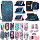 New Design Strong Magnetic Flip Stand PU Leather Wallet Case Cover w/ Hand Strap