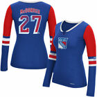 New York Rangers Reebok Women's Rbk Edge Long Sleeve Jersey  T-Shirt - Blue