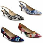 Womens Ladies Kitten Low Heel Casual Pointed Toe Work Office Court Shoes Size