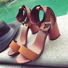 Thboxs Womens Chunky High Heels Summer Sandals Ankle Strap Casual Beach Shoes