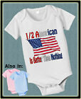 HALF AMERICAN IS BETTER THAN NOTHING SHIRT OR BODYSUIT FLAG NATIONALITY TSHIRT